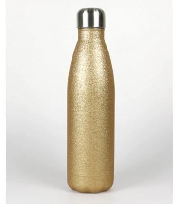 bouteille inox étanche 50 cl gravée or paillettes