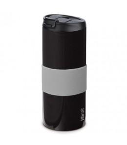 Mug isotherme inox étanche noir