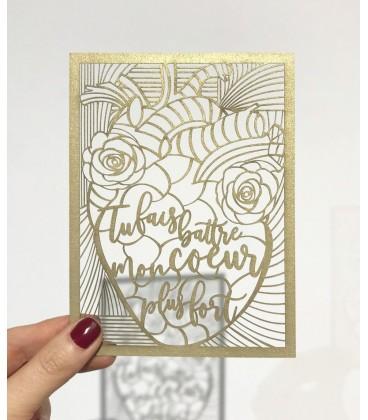 Carte postale Be happy