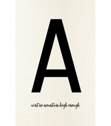 A - Carte postale Love letters (personnalisable)