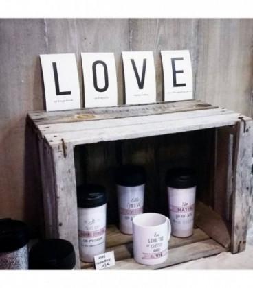 B - Carte postale Love letters (personnalisable)