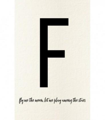 Carte postale déco lettre F