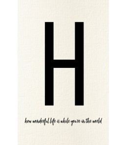 H - Carte postale Love letters (personnalisable)