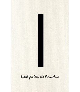 I - Carte postale Love letters (personnalisable)