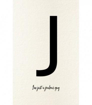 Carte postale déco personnalisée lettre J