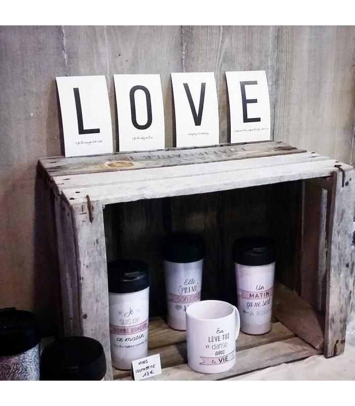k carte postale love letters personnalisable wantit. Black Bedroom Furniture Sets. Home Design Ideas
