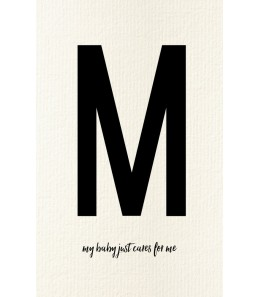 M - Carte postale Love letters (personnalisable)