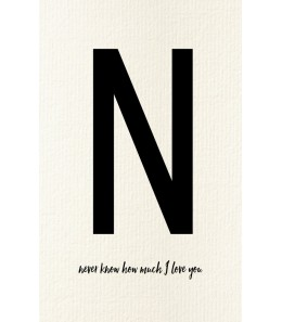 N - Carte postale Love letters (personnalisable)