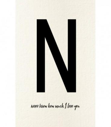 N - Carte postale Love letters (personnalisable)