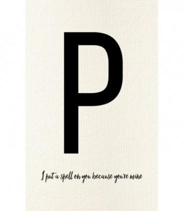Carte postale déco lettre P