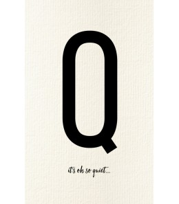 Q - Carte postale Love letters (personnalisable)