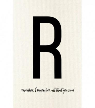 Carte postale déco lettre R