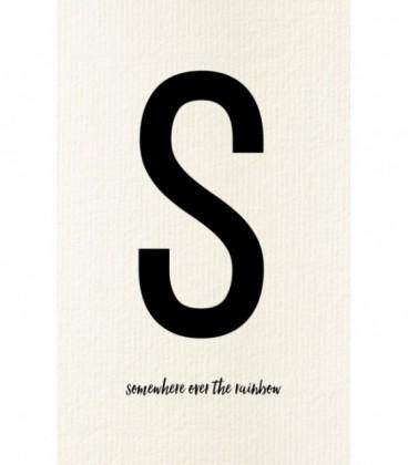 S - Carte postale Love letters (personnalisable)