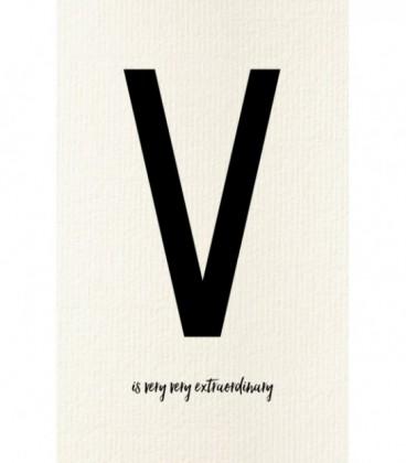 carte postale déco lettre V
