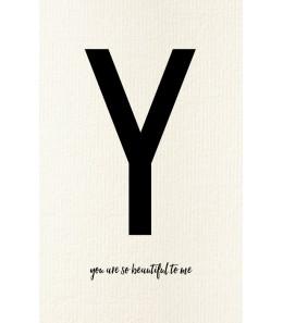 Carte postale déco lettre Y