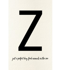 Z - Carte postale Love letters (personnalisable)