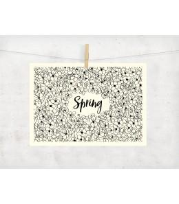 Carte déco Spring