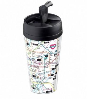 Mug de voyage personnalisable isotherme Love map