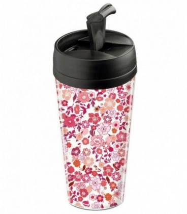 Mug de voyage personnalisable isotherme Liberty rose