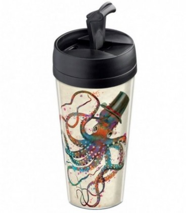 Travel mug personnalisable motif poulpe