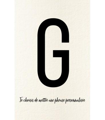 Carte postale déco personnalisée lettre G