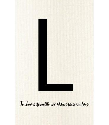 L - Carte postale Love letters (personnalisable)