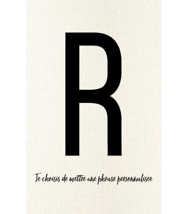 Carte postale déco personnalisable lettre R