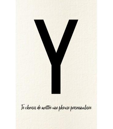 Y - Carte postale Love letters (personnalisable)