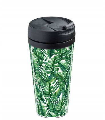 Mug isotherme personnalisable tropical
