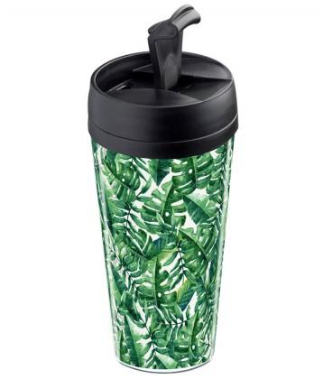 Mug thermos personnalisable motif tropiques