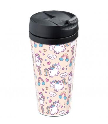 Mug thermos personnalisable motif licorne