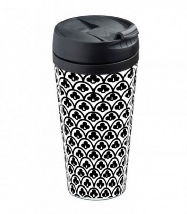 Mug isotherme personnalisable Black and white