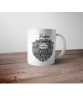 Mug céramique - j'adore les barbus