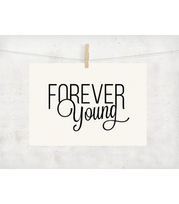 carte postale decoration forever young anniversaire