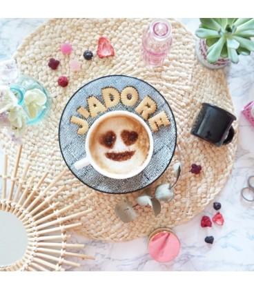 Set de 5 pochoirs Emojis pour café ou biscuits