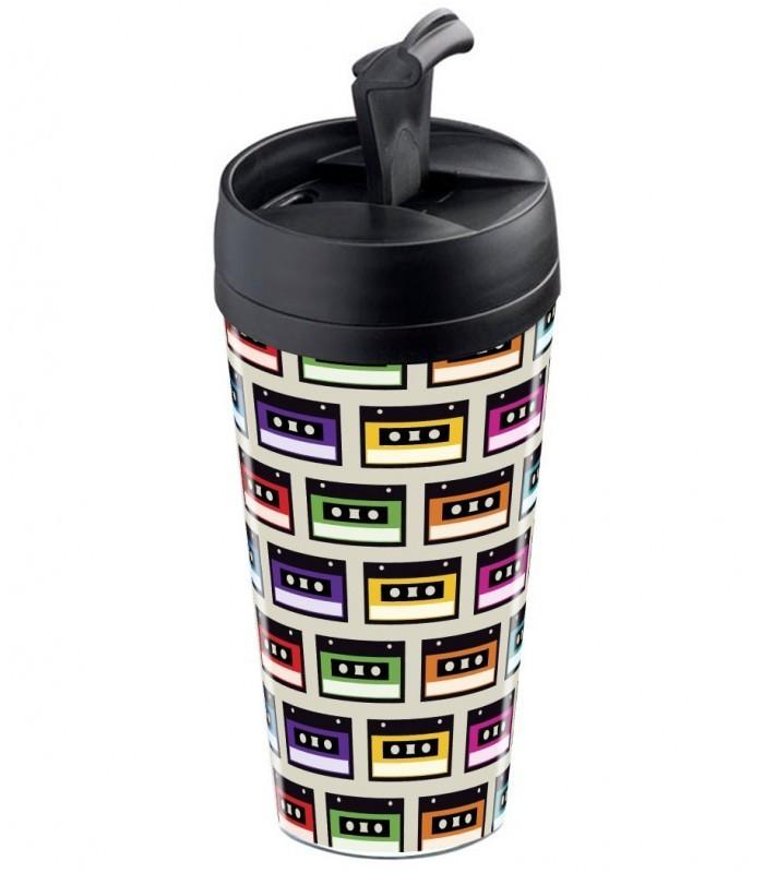 mug de voyage personnalisable isotherme mix tape wantit. Black Bedroom Furniture Sets. Home Design Ideas