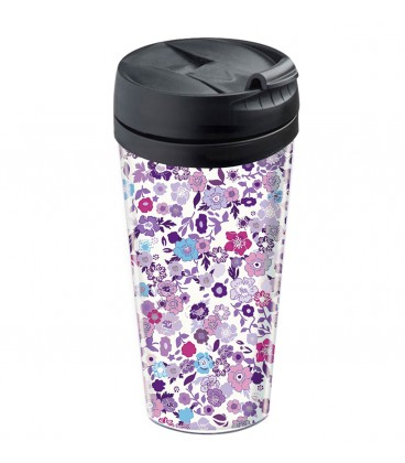 Mug de voyage personnalisable isotherme Liberty violet