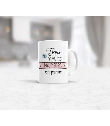 mug céramique phrase Humeur optimiste