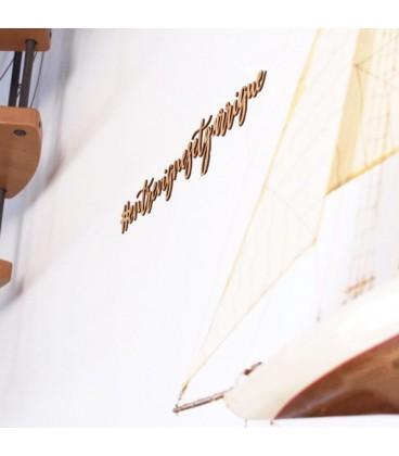 Décoration murale en bois grande largeur