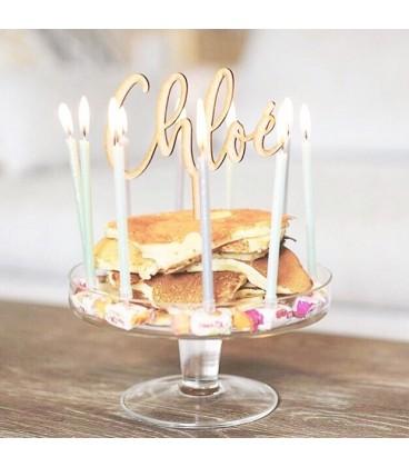 Cake topper en bois personnalisable