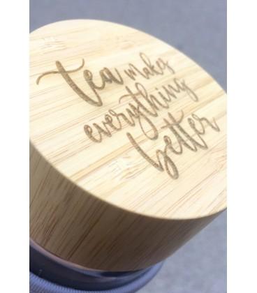 bouchon bambou gravure personnalisée