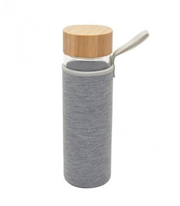 gourde verre bouchon bambou housse néoprène
