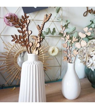Fleurs en bois - bouquet à composer