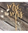 Cake topper mariage Mr & Mrs