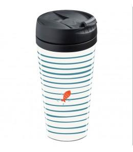 Mug de voyage personnalisable isotherme Comme un poisson dans l'eau