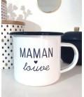 Mini mug express émail (set de 2)