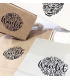 Tampon packaging logo personnalisable