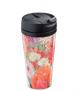 Mug de voyage personnalisable isotherme Flower rose