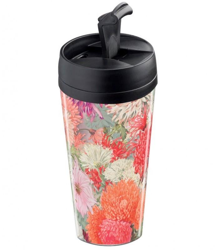 mug de voyage personnalisable isotherme flower rose wantit. Black Bedroom Furniture Sets. Home Design Ideas