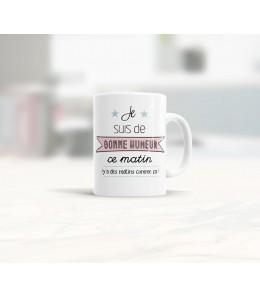 Mug céramique les matins qui chantent - Bonne Humeur